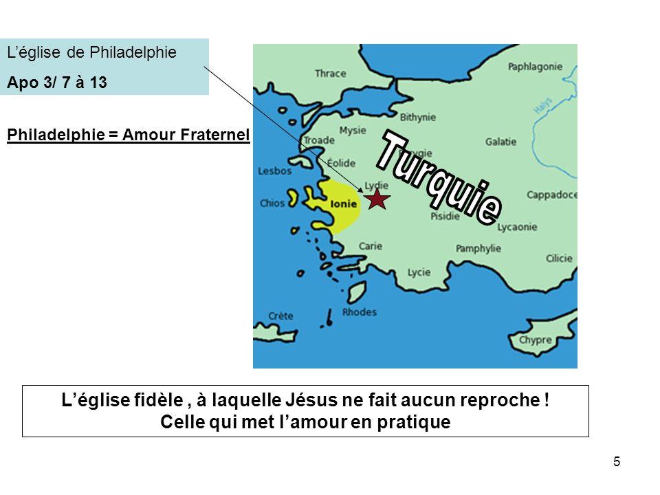 Turquie L'église fidèle , à laquelle Jésus ne fait aucun reproche !