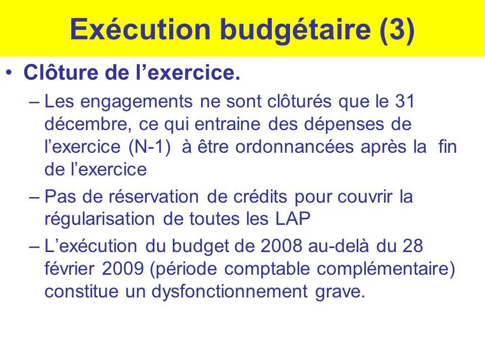 Exécution budgétaire (3)