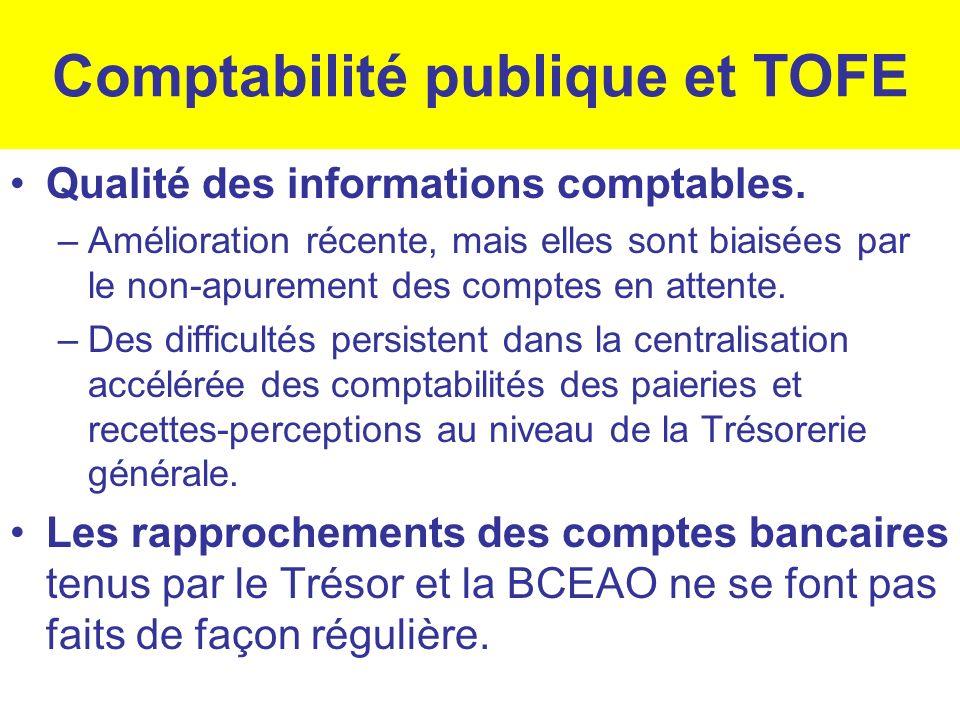 Comptabilité publique et TOFE