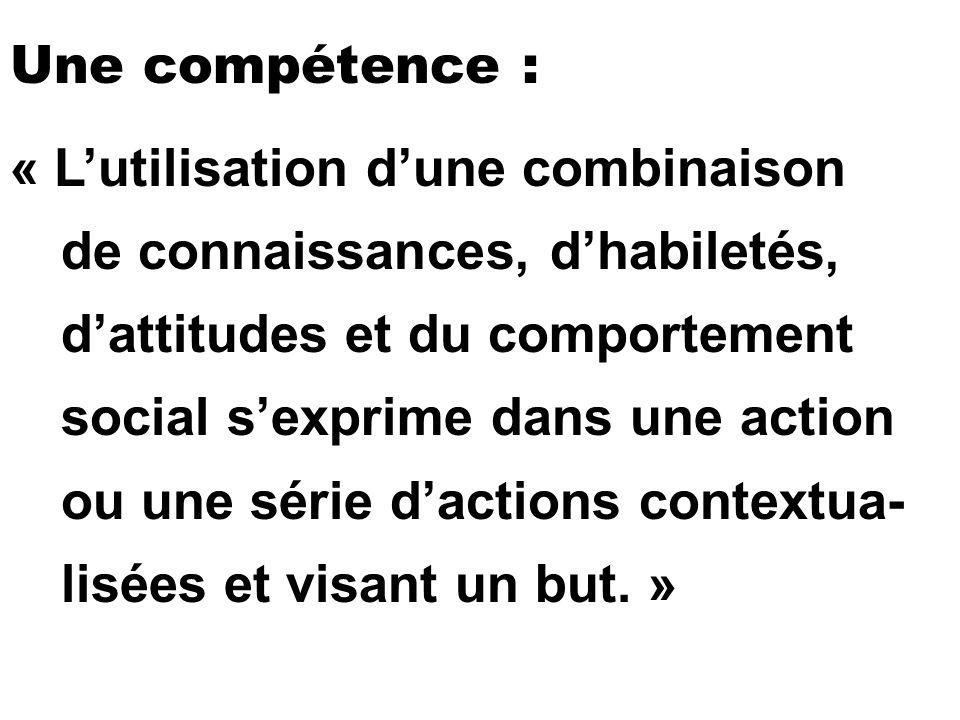 Une compétence :