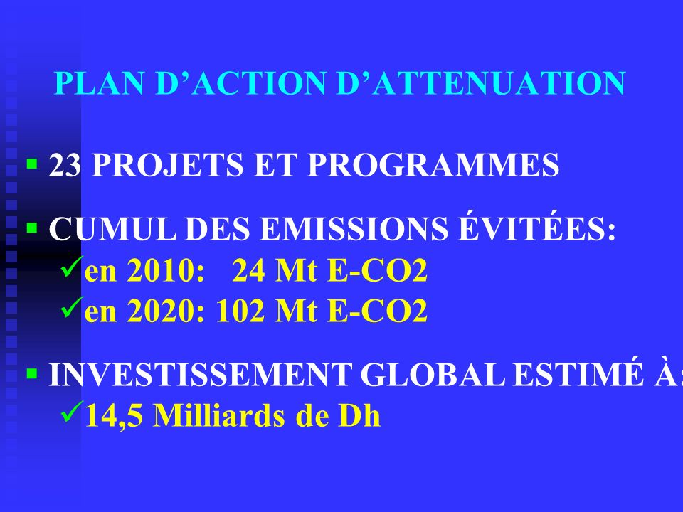 PLAN D'ACTION D'ATTENUATION