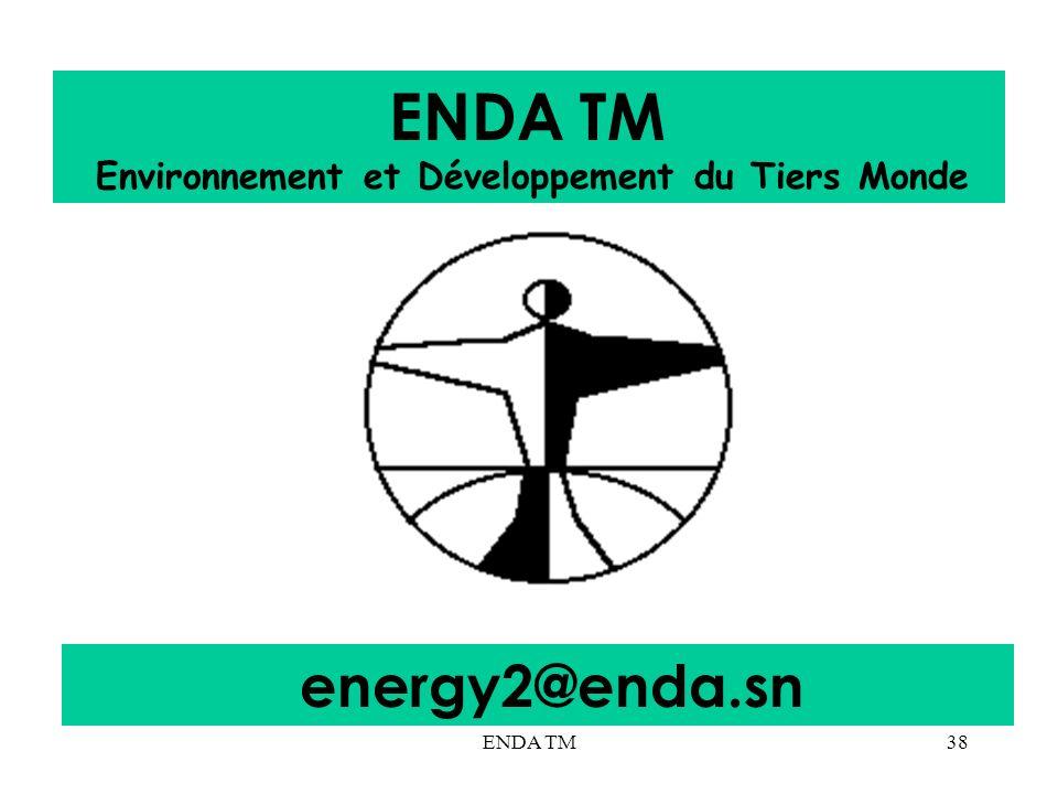 ENDA TM Environnement et Développement du Tiers Monde energy2@enda.sn