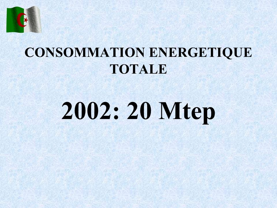 CONSOMMATION ENERGETIQUE TOTALE
