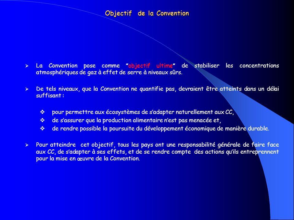 Objectif de la Convention