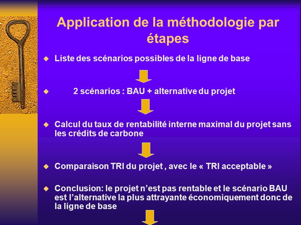 Application de la méthodologie par étapes
