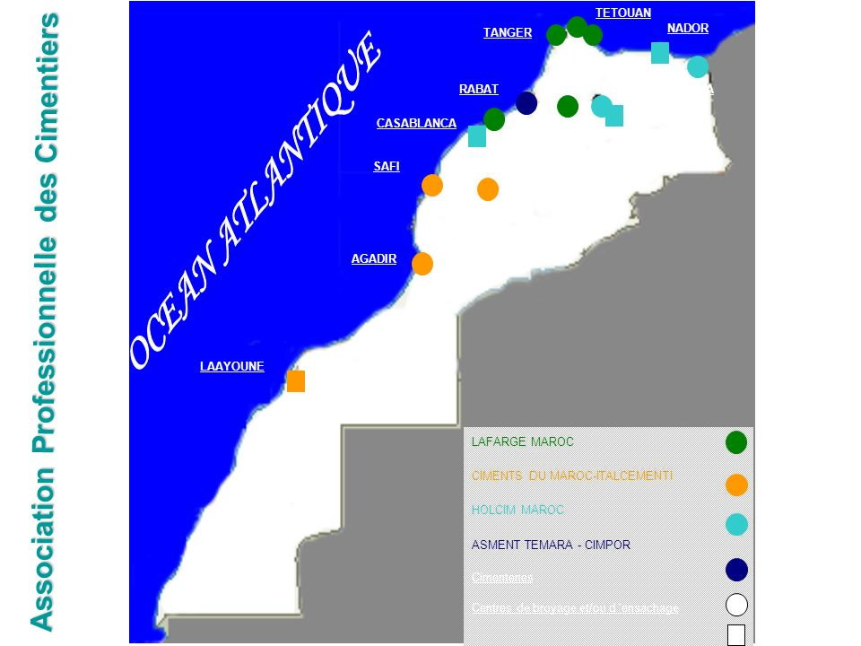 OCEAN ATLANTIQUE Association Professionnelle des Cimentiers CASABLANCA