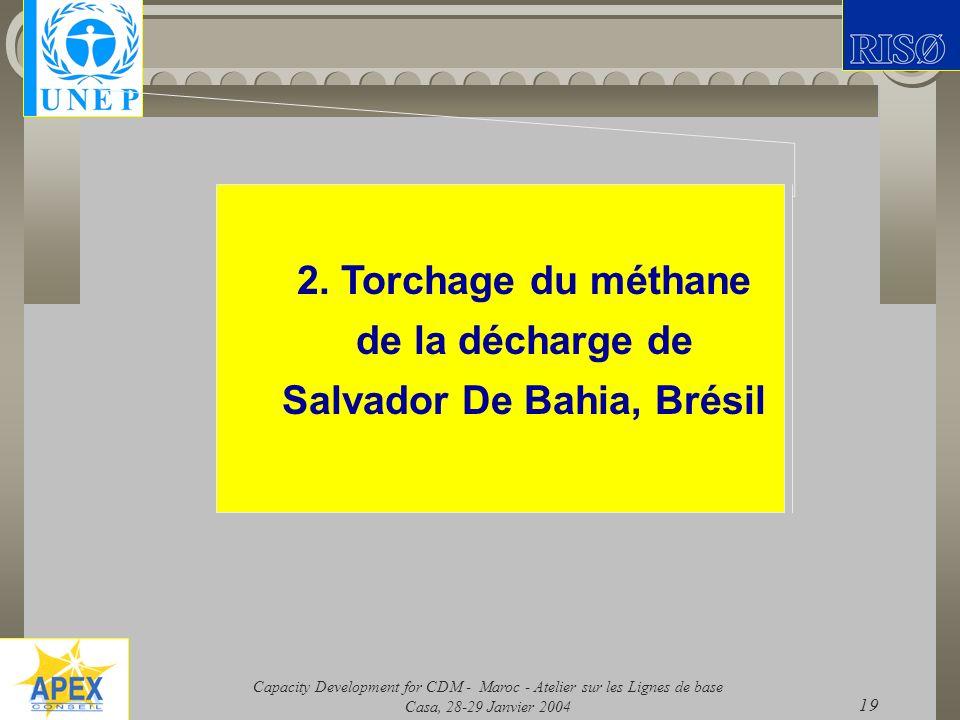 2. Torchage du méthane de la décharge de Salvador De Bahia, Brésil