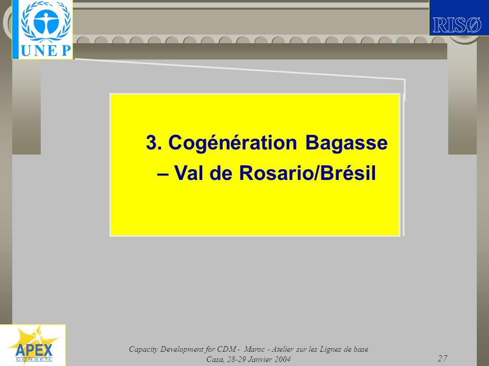 3. Cogénération Bagasse – Val de Rosario/Brésil