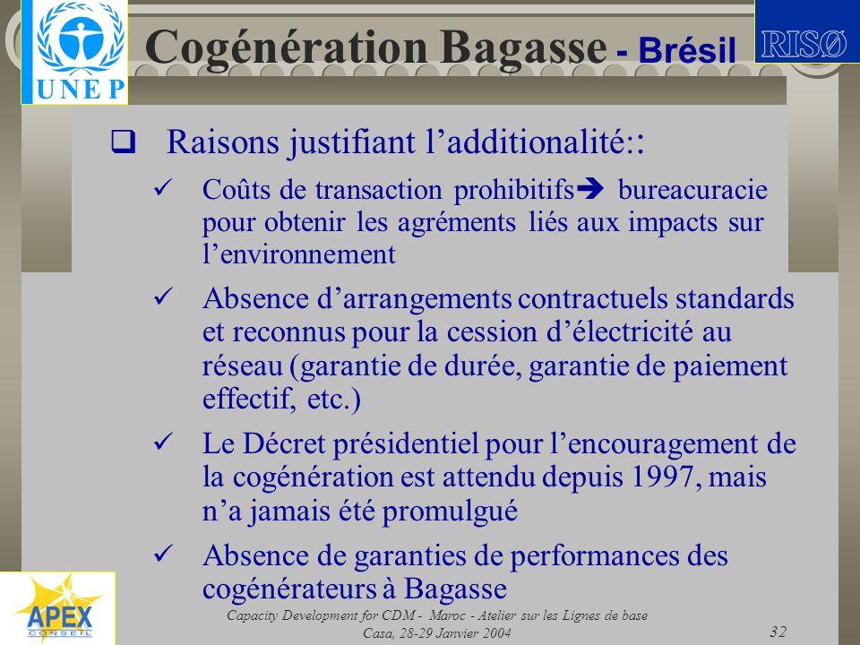 Cogénération Bagasse - Brésil