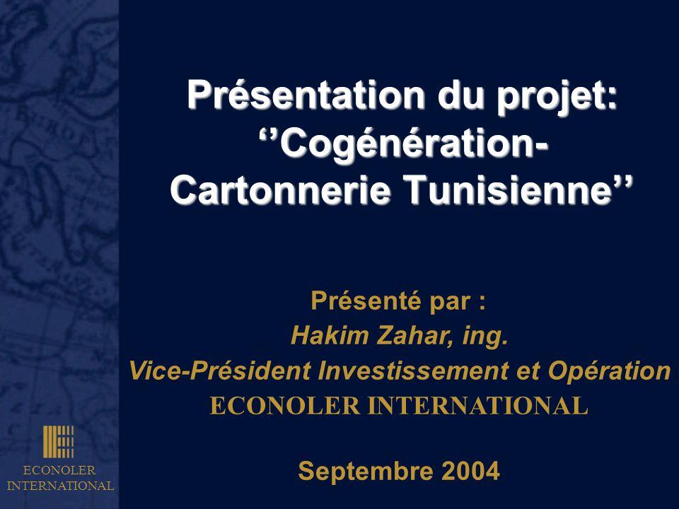 Présentation du projet: ''Cogénération- Cartonnerie Tunisienne''