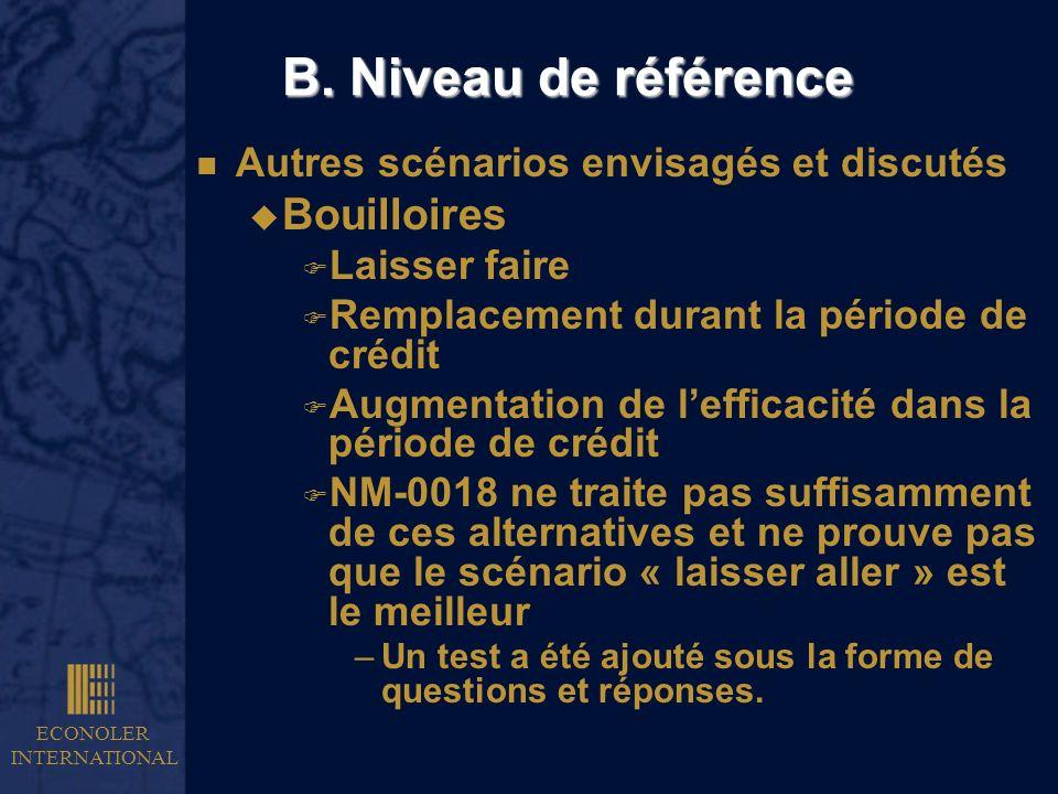 B. Niveau de référence Bouilloires