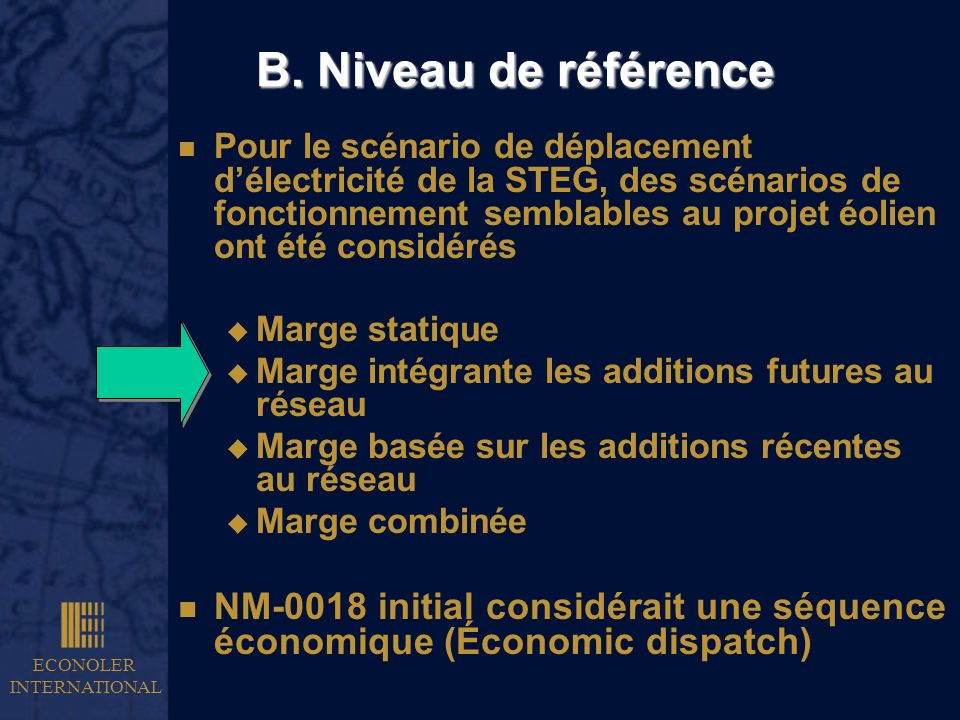 B. Niveau de référence