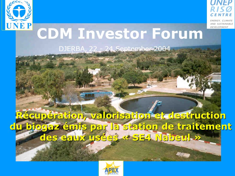 CDM Investor Forum DJERBA, 22 - 24 September 2004.