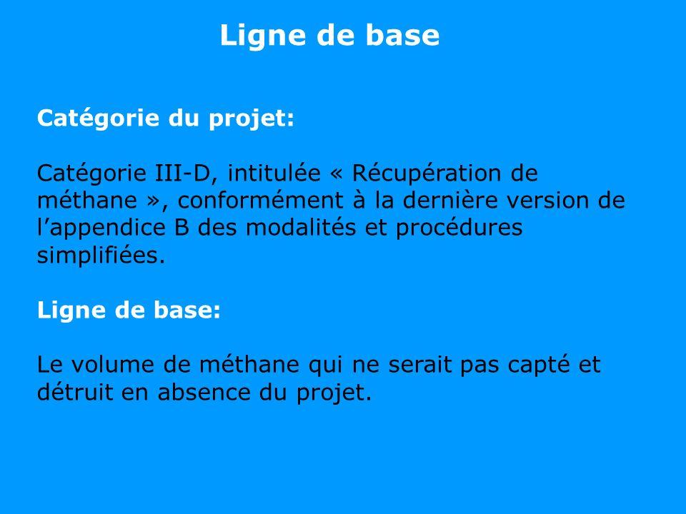 Ligne de base Catégorie du projet: