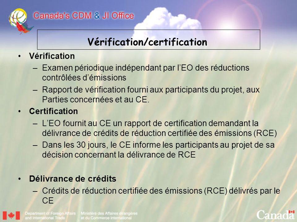 Vérification/certification