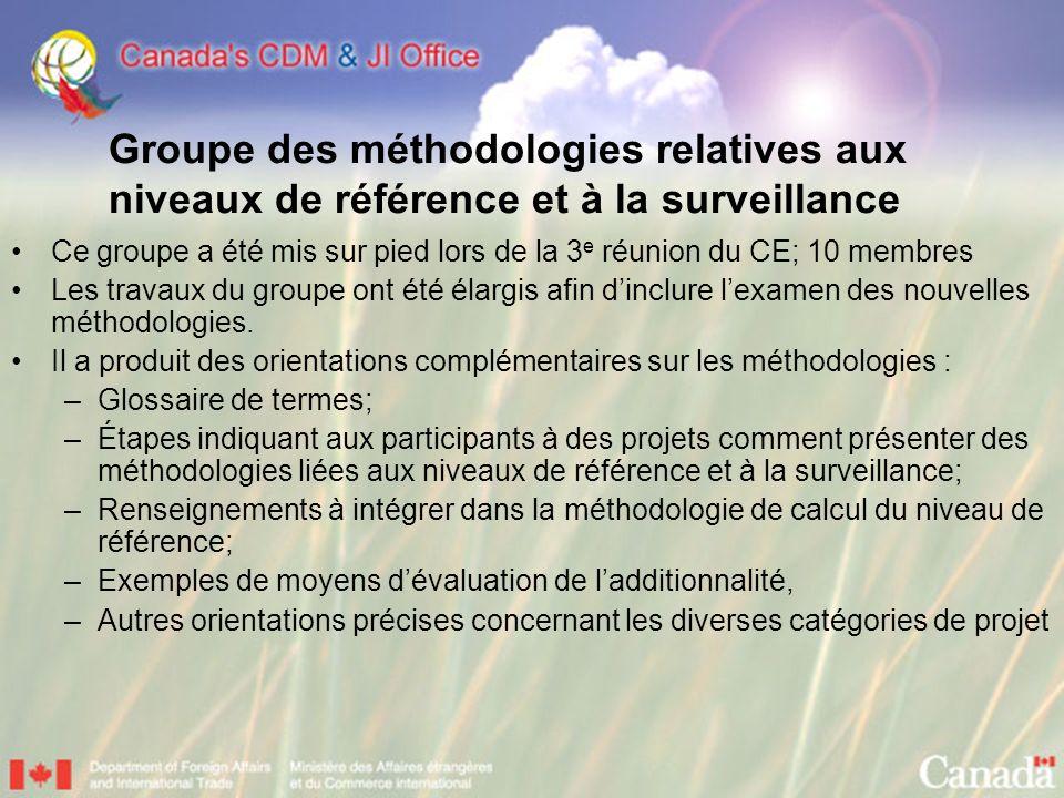 Groupe des méthodologies relatives aux niveaux de référence et à la surveillance