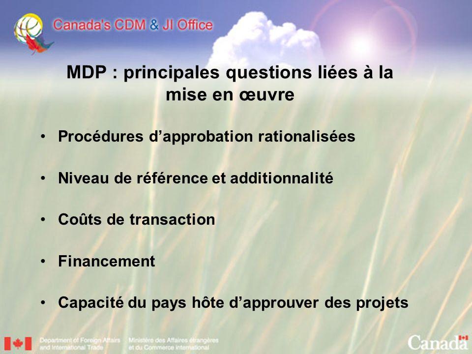 MDP : principales questions liées à la mise en œuvre
