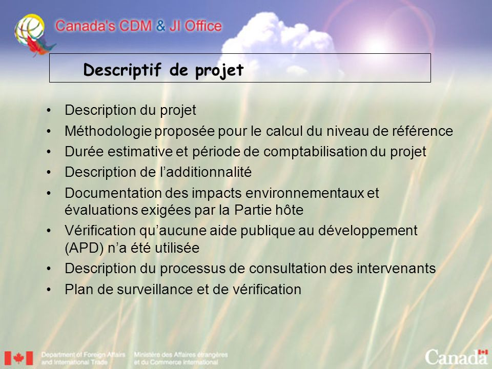 Descriptif de projet Description du projet