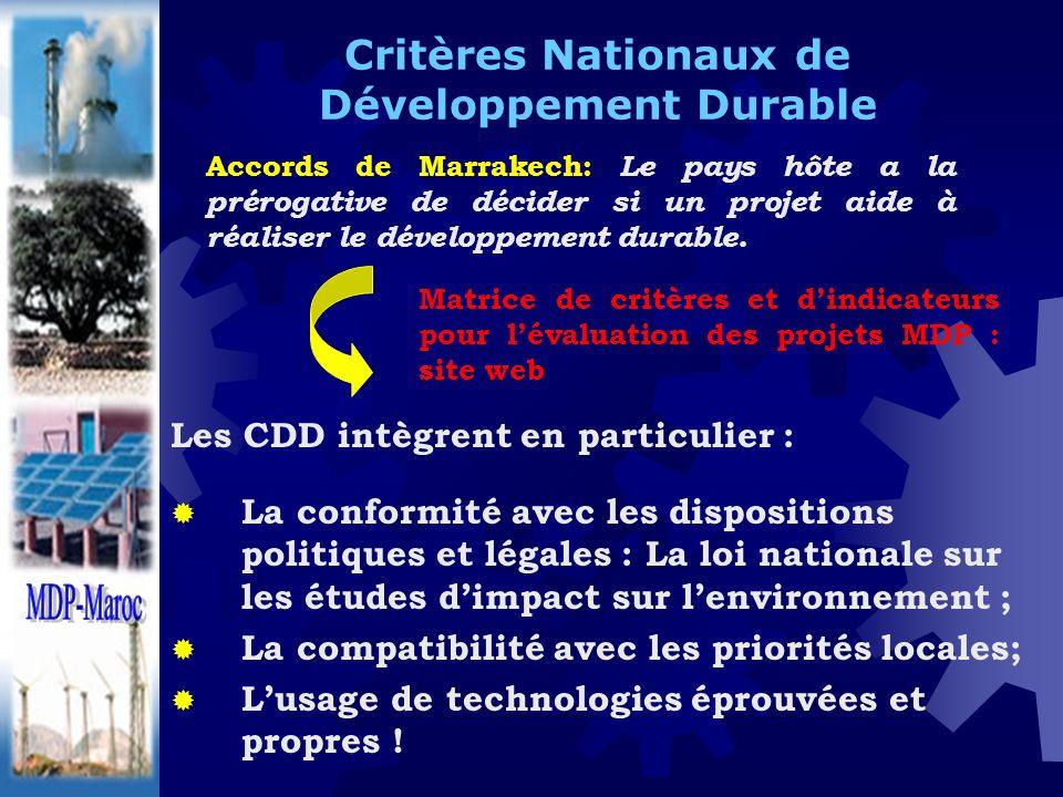 Critères Nationaux de Développement Durable