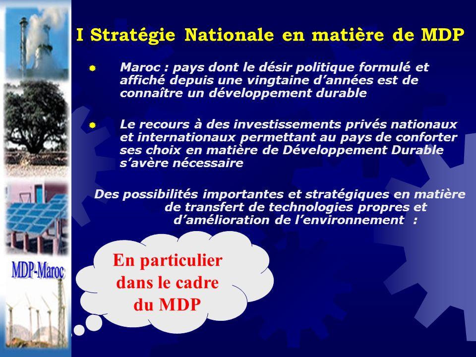 I Stratégie Nationale en matière de MDP