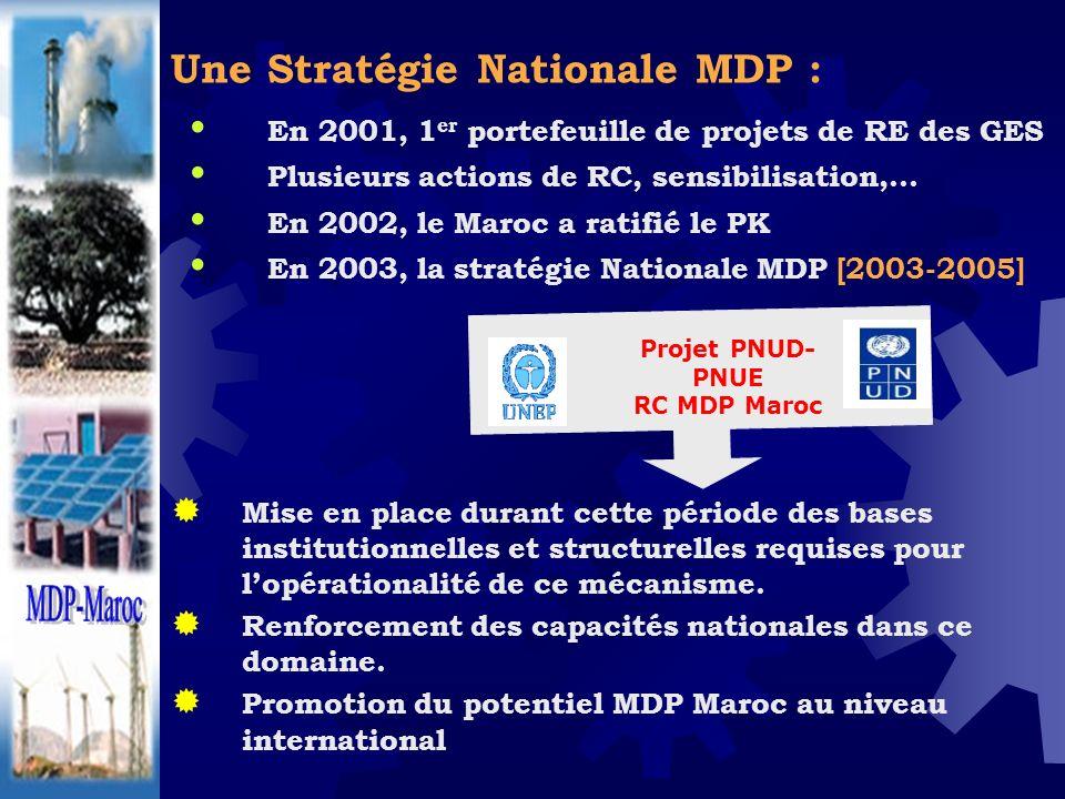 Une Stratégie Nationale MDP :