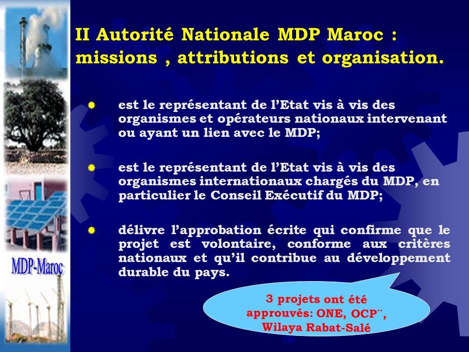 3 projets ont été approuvés: ONE, OCP¨, Wilaya Rabat-Salé