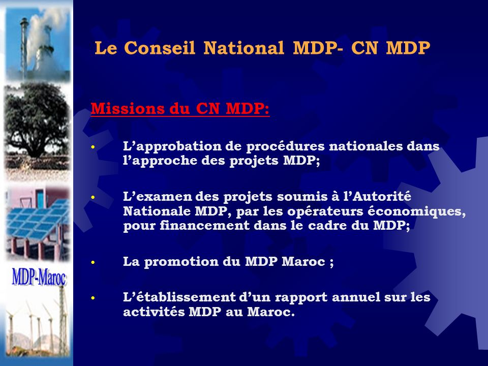 Le Conseil National MDP- CN MDP