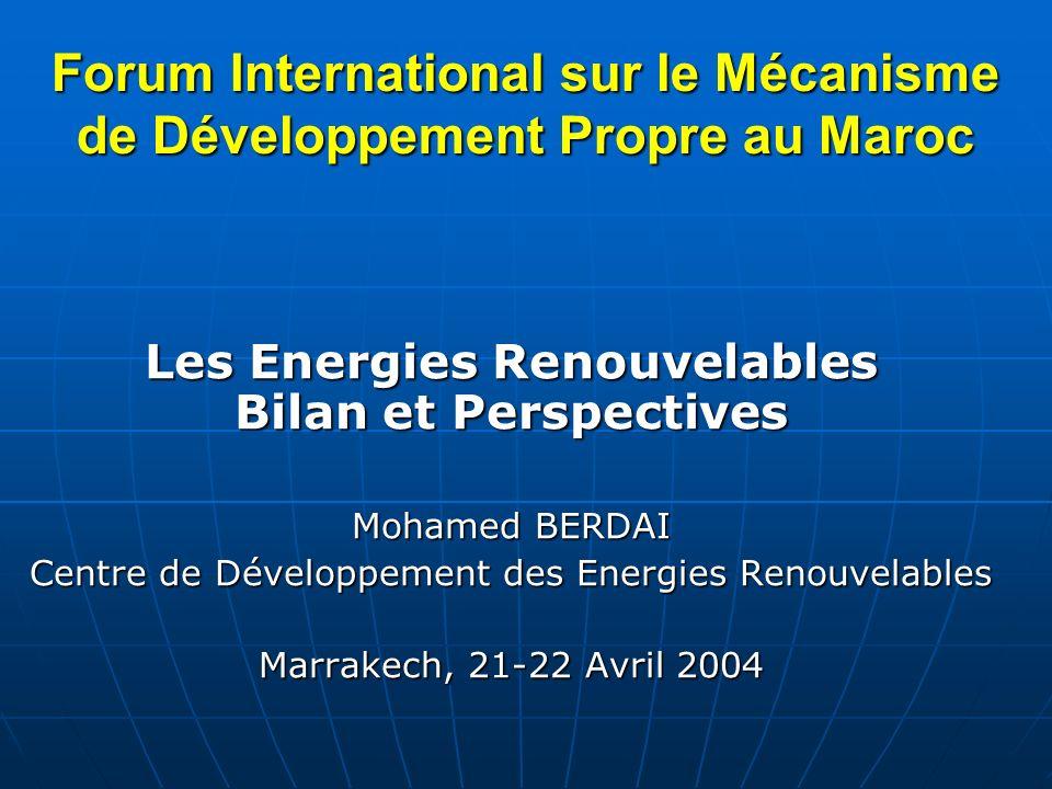 Forum International sur le Mécanisme de Développement Propre au Maroc