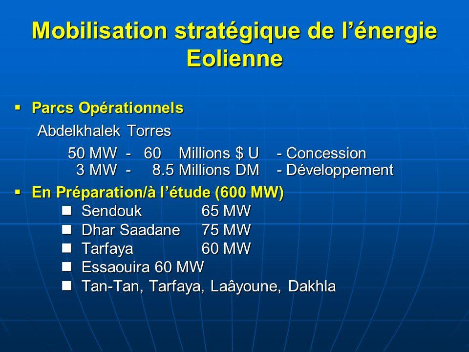 Mobilisation stratégique de l'énergie Eolienne