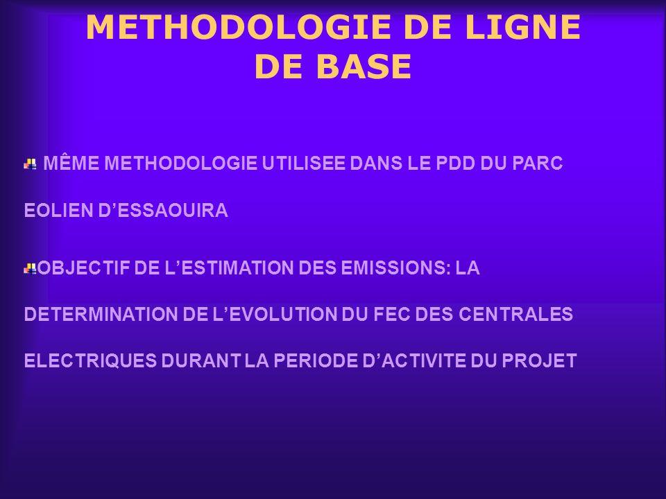 METHODOLOGIE DE LIGNE DE BASE