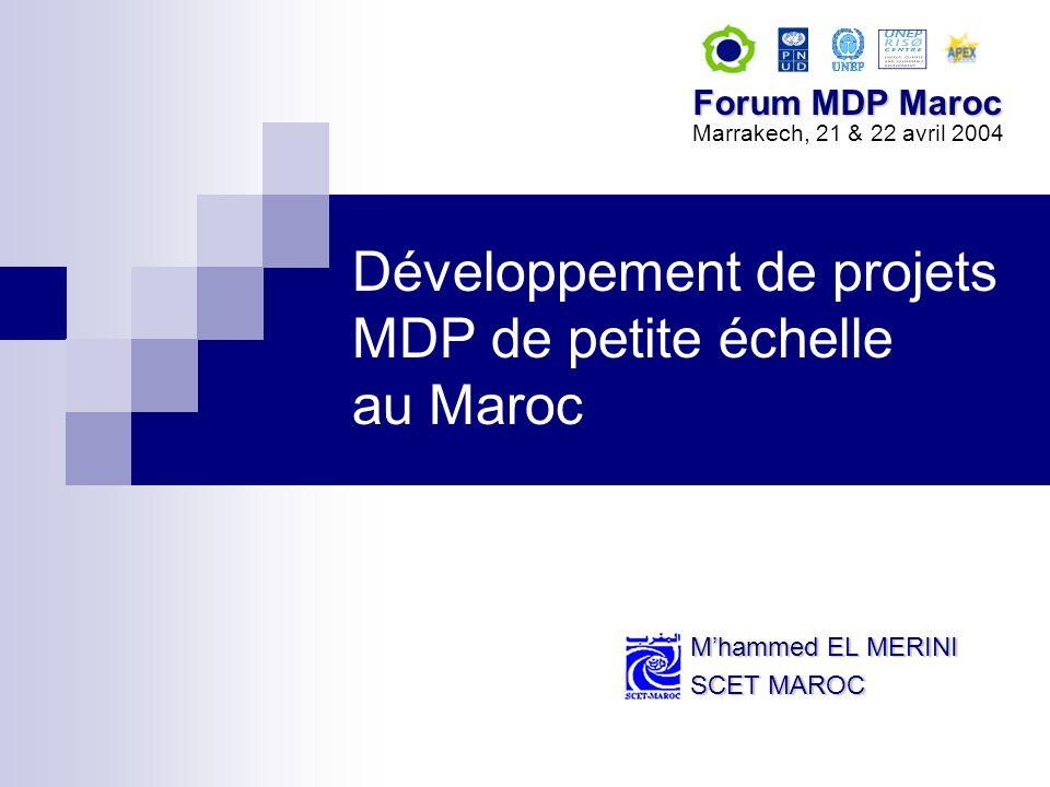 Développement de projets MDP de petite échelle au Maroc