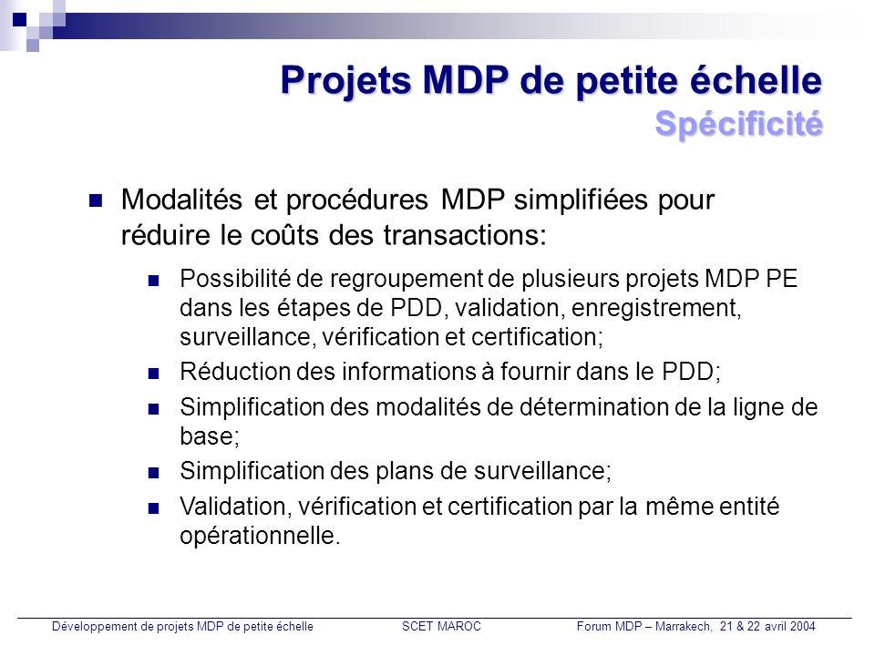 Projets MDP de petite échelle