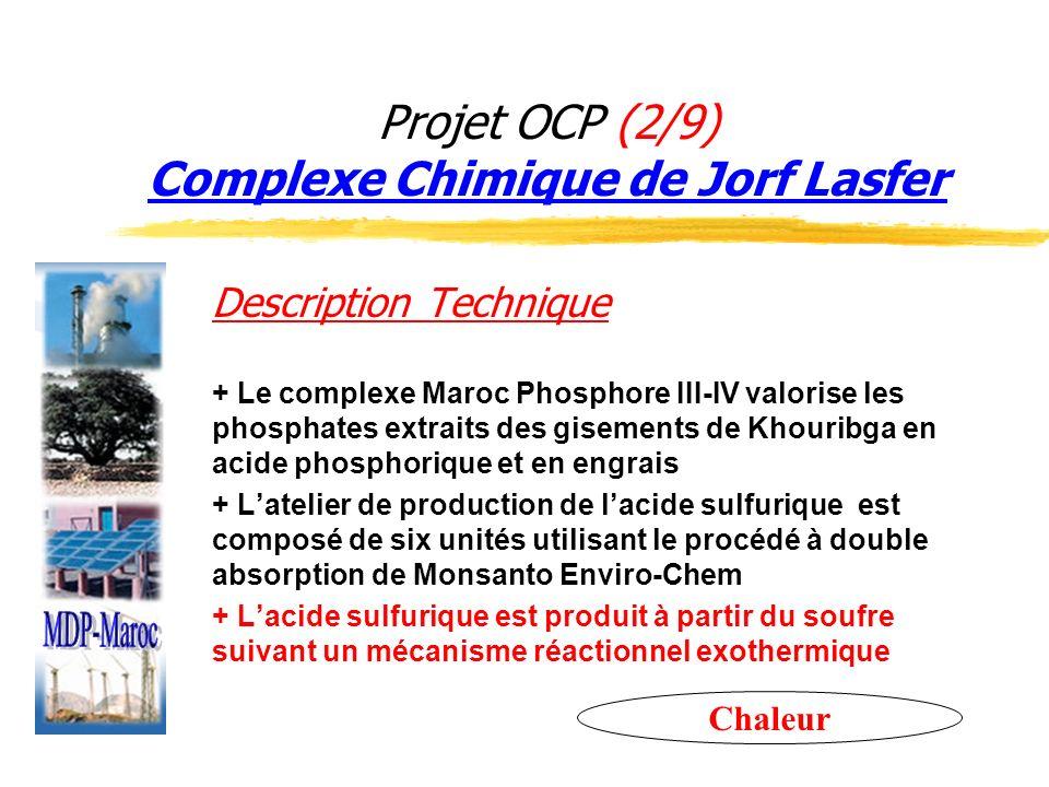 Projet OCP (2/9) Complexe Chimique de Jorf Lasfer