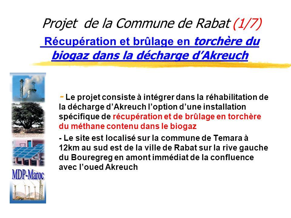 Projet de la Commune de Rabat (1/7) Récupération et brûlage en torchère du biogaz dans la décharge d'Akreuch
