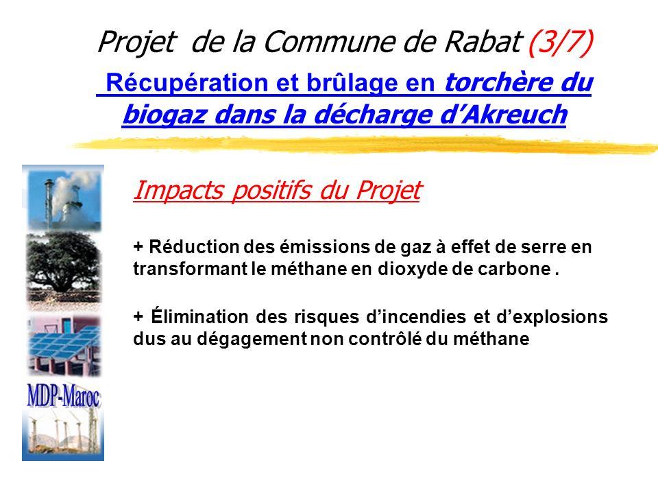 Projet de la Commune de Rabat (3/7) Récupération et brûlage en torchère du biogaz dans la décharge d'Akreuch