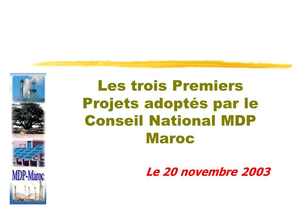 Les trois Premiers Projets adoptés par le Conseil National MDP Maroc