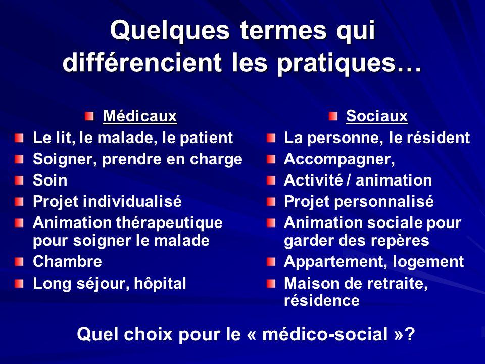 Quelques termes qui différencient les pratiques…