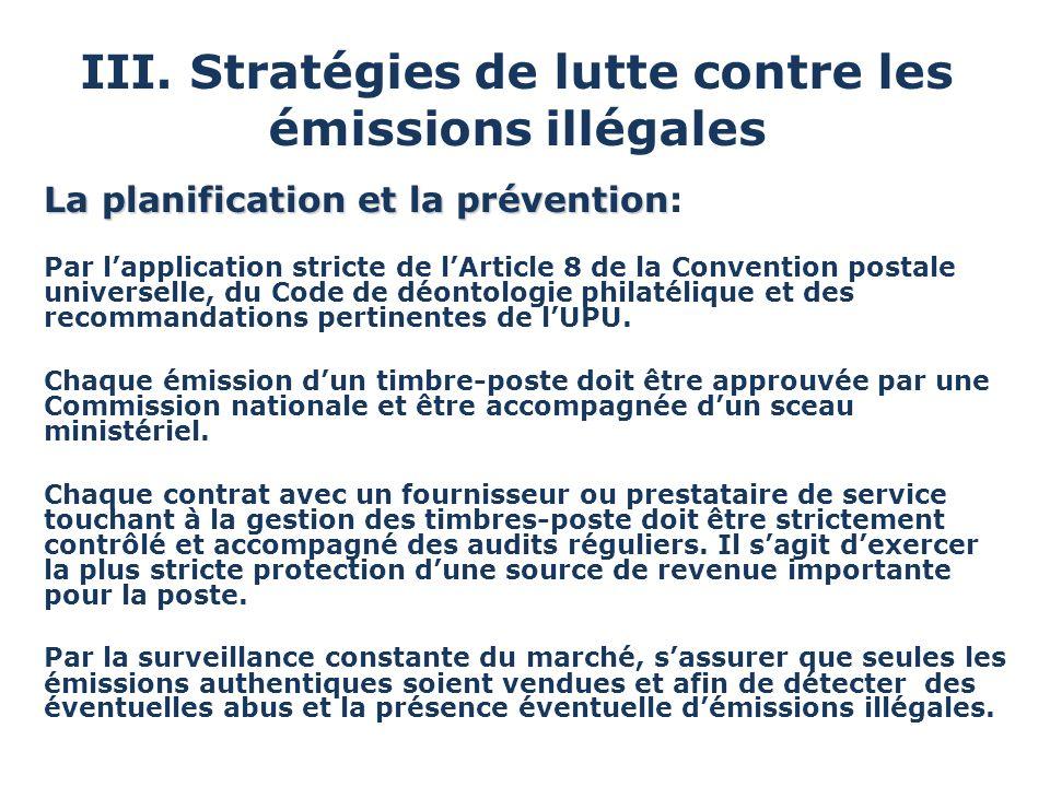 III. Stratégies de lutte contre les émissions illégales