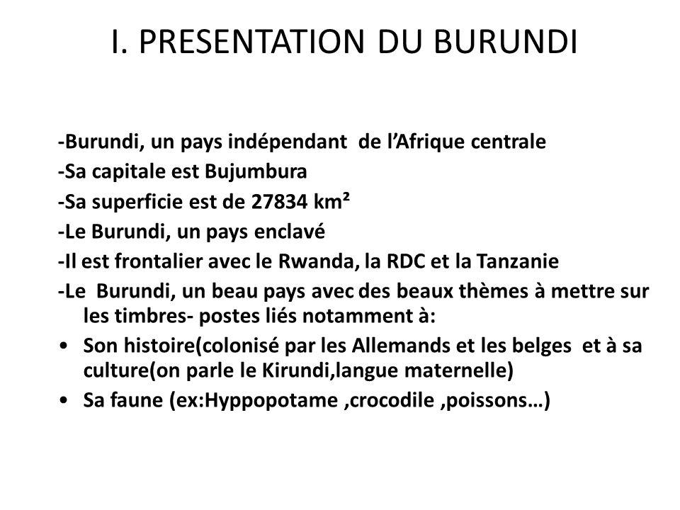 I. PRESENTATION DU BURUNDI