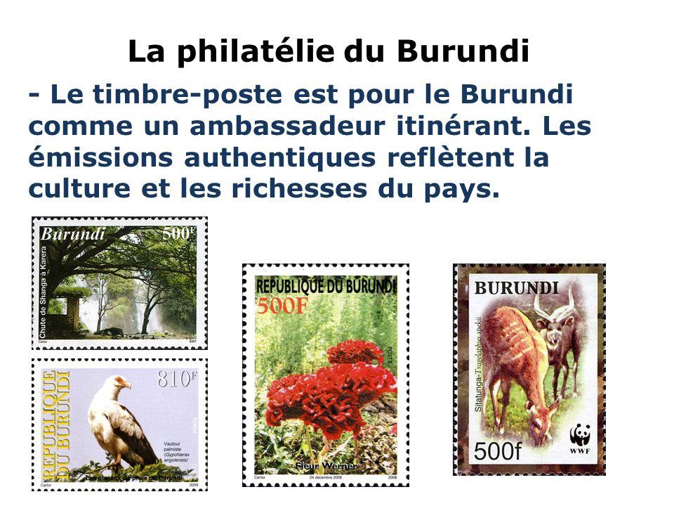 La philatélie du Burundi