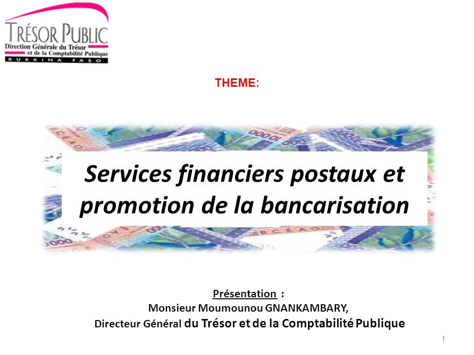 Services financiers postaux et promotion de la bancarisation
