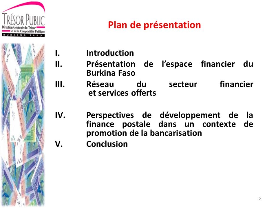Plan de présentation Introduction