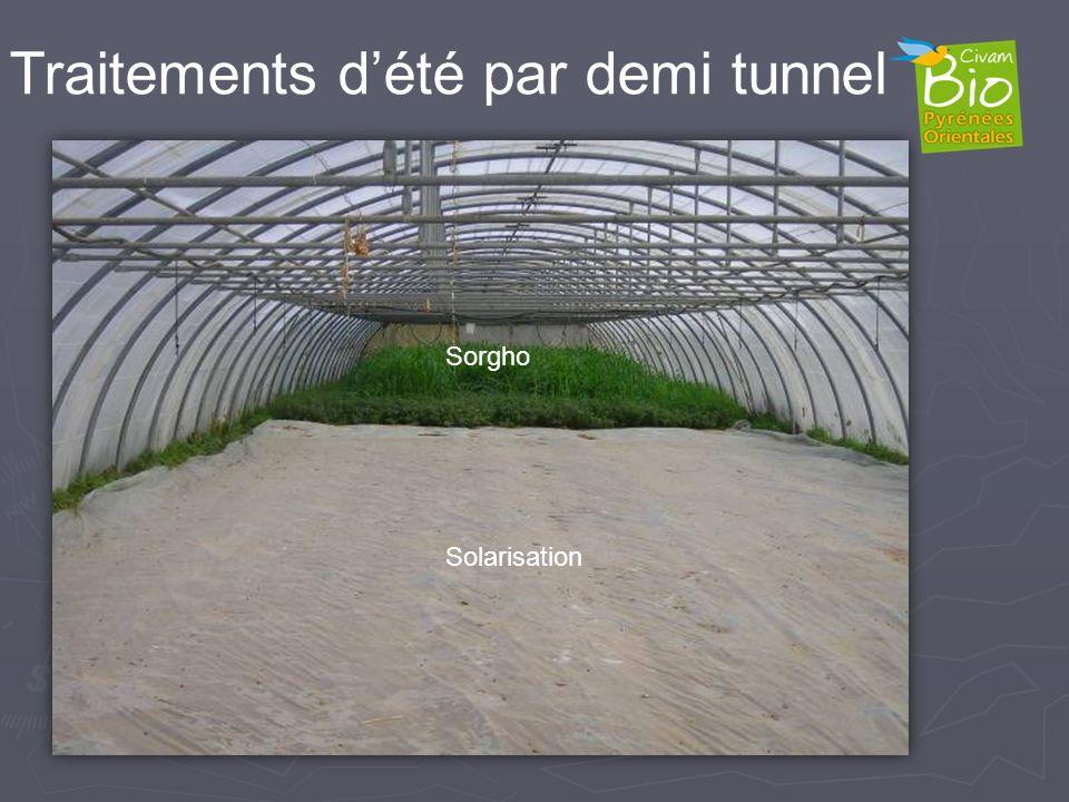 Traitements d'été par demi tunnel