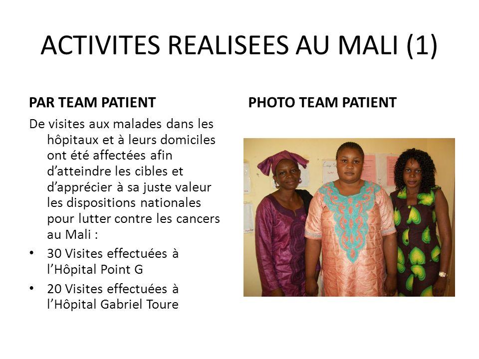 ACTIVITES REALISEES AU MALI (1)