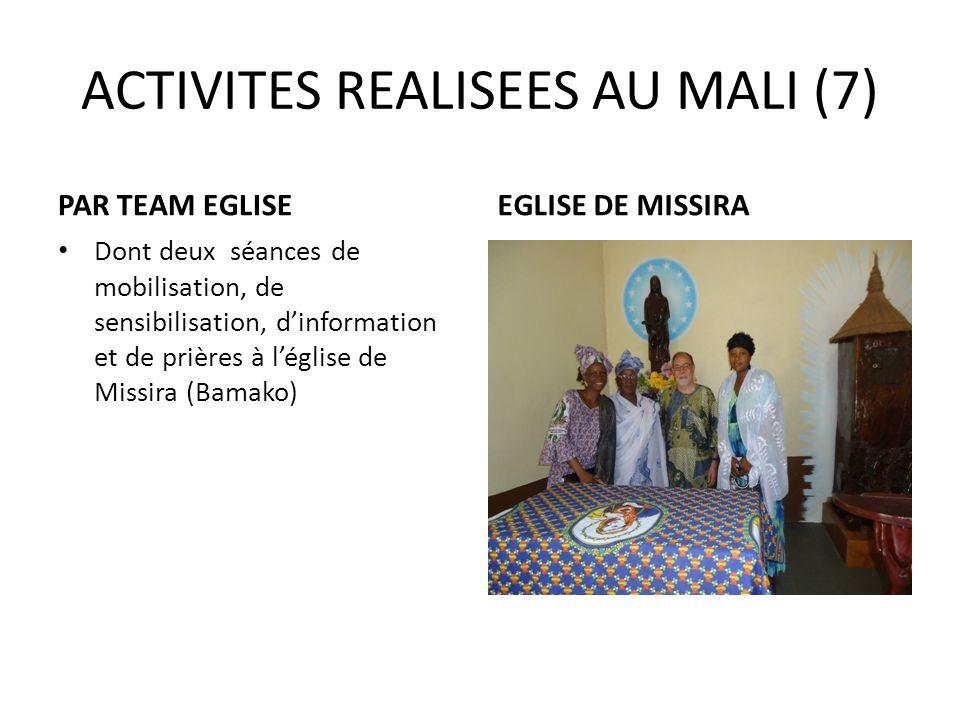 ACTIVITES REALISEES AU MALI (7)