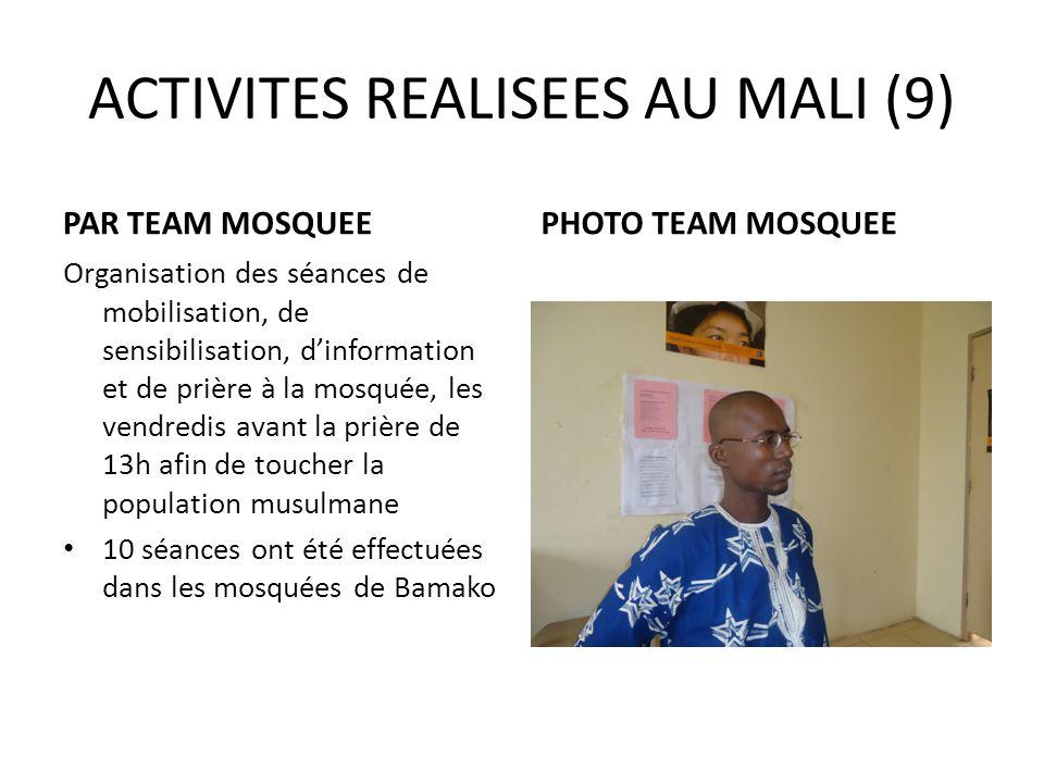ACTIVITES REALISEES AU MALI (9)