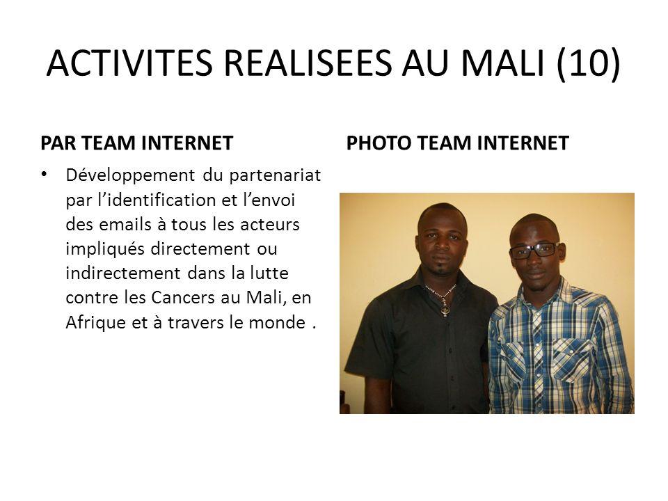 ACTIVITES REALISEES AU MALI (10)