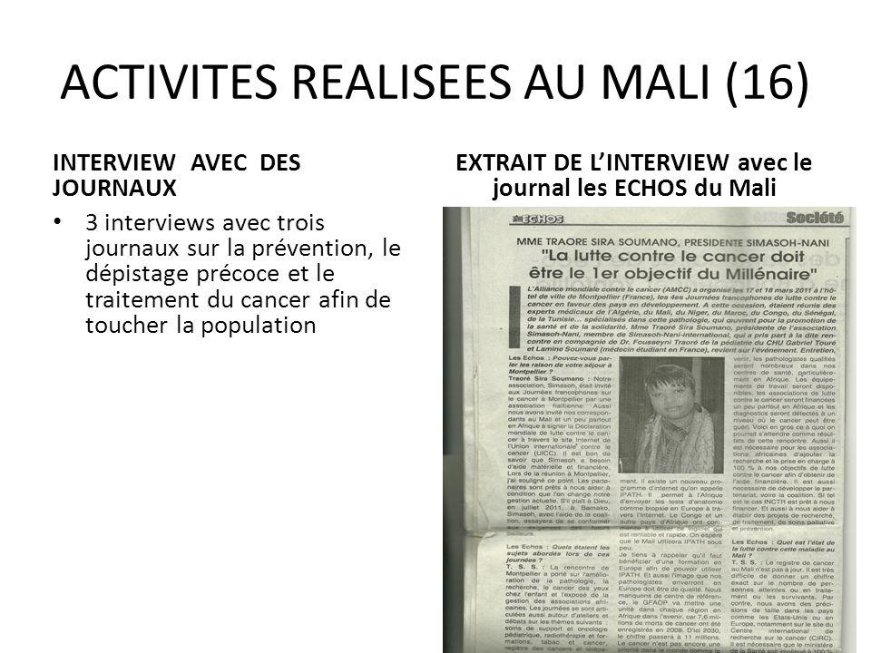 ACTIVITES REALISEES AU MALI (16)