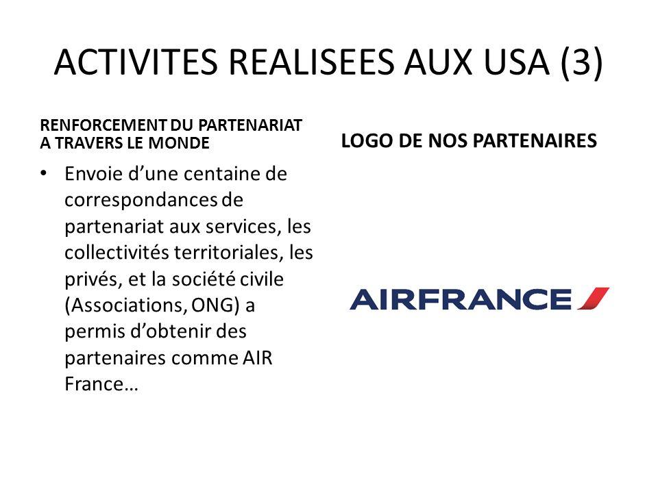 ACTIVITES REALISEES AUX USA (3)