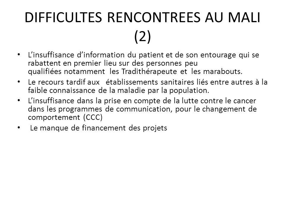 DIFFICULTES RENCONTREES AU MALI (2)